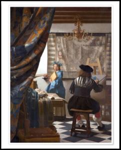 Jan Vermeer i sit atelier